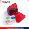 Plastic square small pill box (KL-9062)