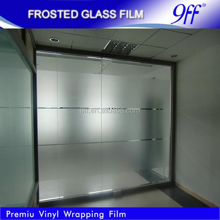 Givr fen tre en verre d coration vinyle film moiti for Film protecteur fenetre