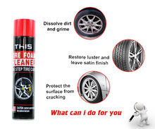 650ml Tire Foam Protectant, Spray Tire Polish, Car Care Tire Cleaner