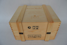 Wholesale Solid Wooden Wine Crates