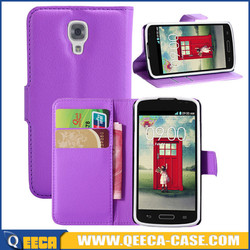 Factory wholesale wallet pu leather flip cover for lg f70 d315