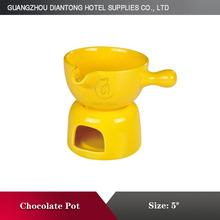 Professional cheap high ceramic chocolate melting pot