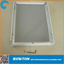 Metal aluminum snap frame lockable poster frames wall poster holder