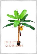 Artificial da árvore de fruto / bananeira artificial / artificial vasos de plantas para resturant decoração