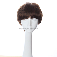 Handsome Short Wig Korean Men's Male Hairstyle Brown Wigs