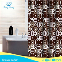 Printed Polyester Fancy Shower Curtain european style