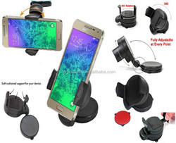 Car Phone Mount for Windshield & Dashboard fits iPhone 6 5S 5C 5 4S 4 Samsung Galaxy S4 S3 S2 Universal Mount Fits Most Smart