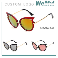 smummer hot selling cat 3 uv400 sunglasses top quality custom with mixed color