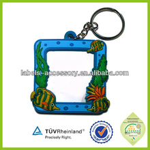 Wholesale cheap good quality custom plastic keychain photo holder
