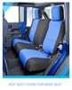 jeep wrangler seat cover made of neoprene for rear seat black and blue