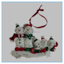 christmas decoration resin polyresin christmas snowman family ornament
