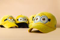 Despicable Me style plush visors minions pattern glasses hats and cap funny character winter hats