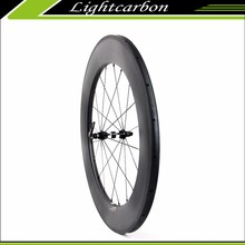 LIGHTCARBON Carbon Wheel Set 700c 350S-880T on Sale with 88mm Height Tubular DT350S Hubs, Free Shipping Worldwide