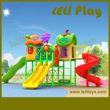 LL-O04 Good Quality Children Outdoor Playground Plastic Slide