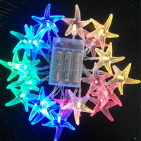 colorful starfish sea star 20 led fairy light string xmas decoration