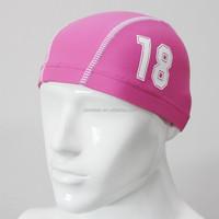 good quality mens pink swimming hats
