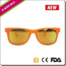 Custom wayfarer promotional orange plastic sunglasses