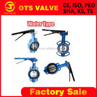 Bv-SY-419 aluminium Butterfly Valve with manual handle and EPDM and stainless steel