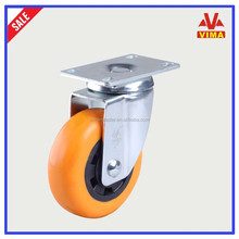 Best price & Competitive advantage 75mm double ball bearing casters swivel orange PP caster