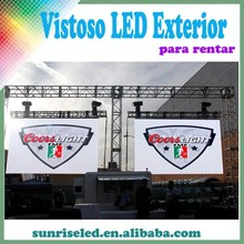 Sunrise outdoor concert used p6.944 high resolution led display screen