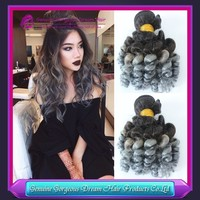 Factory Supply 100% Peruvian Cheap Remy Hair Extensions Loose Wave 3PCS Full Cuticle Ombre Grey Human Hair Weaving