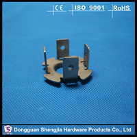 ISO OEM Stainless steel sheet metal spring clips punching holes small metal fabrications