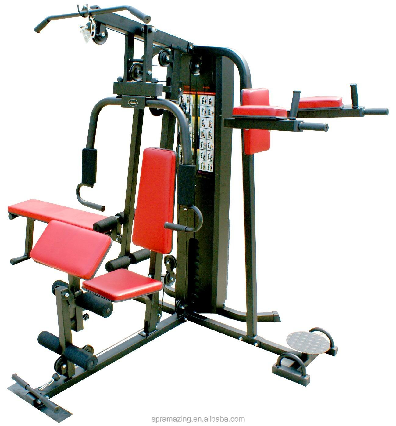 4 station multi gym equipment ama 7000e cheap price home gym equipment buy multi station gym 4. Black Bedroom Furniture Sets. Home Design Ideas