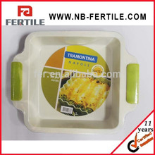 wfz102833 utensilios para hornear cuadrado bandeja de la torta