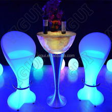 Marquee LED Outdoor Furniture bar chair table/china supplier led light event rental bar chair furniture
