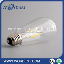 Edison tungsten filament vintage antique E27 Light Bulb Reproduction Droplight ST64