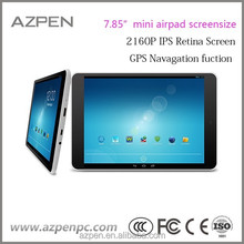 AZPEN Quad Core Android Tablets 7.85 inch with GPS Cameras android goole gsm certificated built-in 3g tablet pc