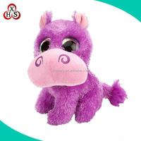 promotional custom stuffed cartoon character hippo for sale