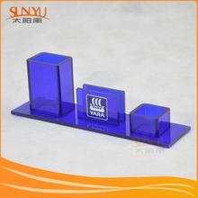 Retail Shop Acrylic Pen Display Blue Acrylic Micro Needle Pen Stand