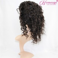 Homeage Wholesale cheap natural color Brazilian virgin remy human hair full ace wigs in dubai