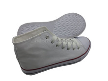 Wholesale China Manufacturer Plain Sneakers White Canvas Shoes