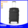China overstock luggage bags spinner soft nylon travelling luggage trolley bags on wholesale