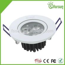 aprobado por la ce blanco trim cri de alta la luz de techo de accesorios de china