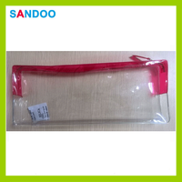 2015 China manufacturer wholesale clear pvc cosmetic bag with zipper