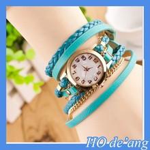 HOGIFT New Fashion Retro Vintage Women Gold Dial Dress Watch/Leather Strap Quartz Wrist Watch