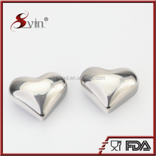 bpa free heart shape sus 304#stainless steel light ice cube