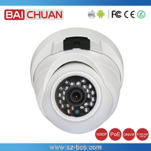 2 Megapixel 1080P HD IP Dome Camera with Built-in PoE and Embedded Mic