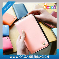 Encai Fashion Zipper Smart Mobile Phone Wallet/Ladies Coin Purse/Cell Phone Bag With Cards & Ticket Holder