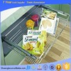 New type 410*840*140 stainless steel pull out wire basket, kitchen magic corner storage, kitchen cabinet pull out basket