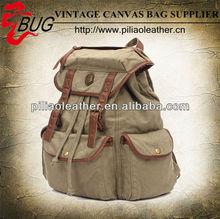 2012 most popular canvas satchel backpack/washed back pack/canvas rucksack bag