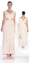 vestido rosa claro árabe musulmán vestido de novia de la boda con los hombros