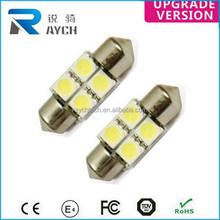 Hot sell 31/36/39/41 mm 5050 3 LED 4smd Festoon Dome LED Light Bulbs,led festoons