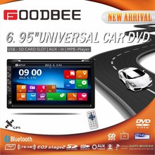 Universal 6.95 inch car DVD + bluetooth GPS + TV + Ipod