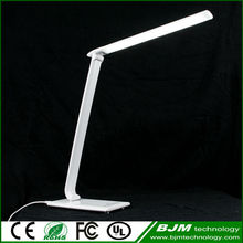 Modern Design ABS Plastic Material Rotational Arms Folding Touch Led Table Lamp