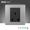 Wholesaler Hot Sale Wallpad Luxury Wall Light Switch Panel Random Click LED Indicator UK 1 Gang 3 Pin 15A Socket Switch Outlet