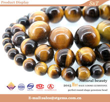 The unique choice for your design tiger eye yellow natural semi precious beads wholesale